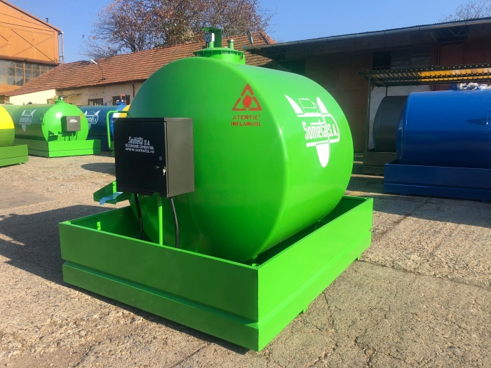 Rezervor suprateran 5000 litri cu pompa  ST BOX - verde 2