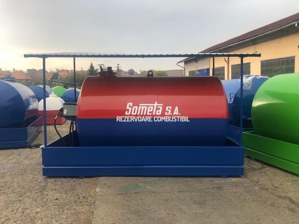 Rezervor suprateran 9000 litri cu copertină și pompă CUBE 70 electronica 0