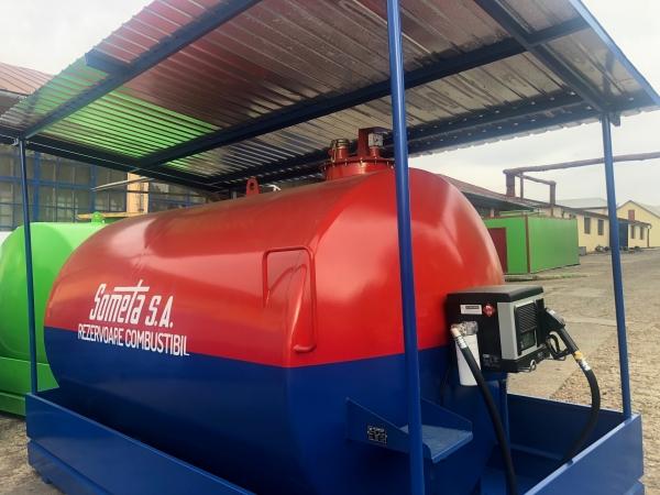 Rezervor suprateran 9000 litri cu copertină și pompă CUBE 70 electronica 2