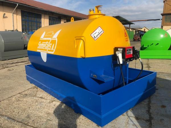 Rezervor suprateran 9000 litri cu pompa Cube56 - galben-albastru 1