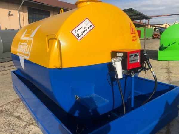 Rezervor suprateran 9000 litri cu pompa Cube56 - galben-albastru 4