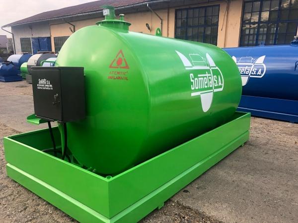 Rezervor suprateran 9000 litri cu pompa ST BOX - verde 0