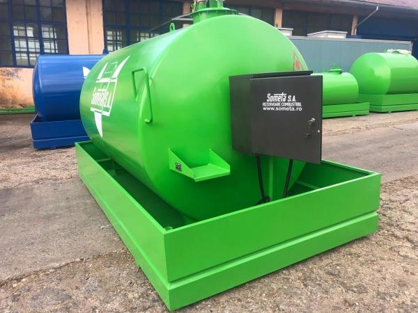 Rezervor suprateran 9000 litri cu pompa ST BOX - verde 2