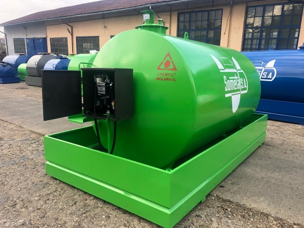 Rezervor suprateran 9000 litri cu pompa ST BOX - verde 1
