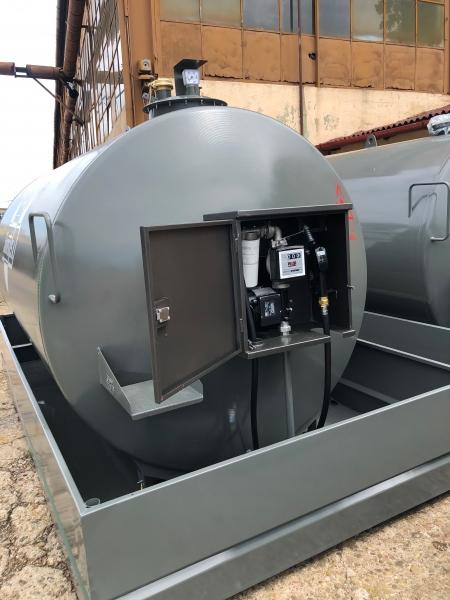 Rezervor suprateran 9000 litri cu pompa ST BOX - gri 1