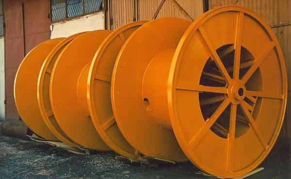 Tamburi metalici si bobine pentru infasurare conductori, cabluri si sarme 1