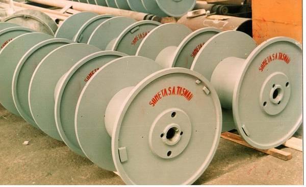 Tamburi metalici si bobine pentru infasurare conductori, cabluri si sarme 7