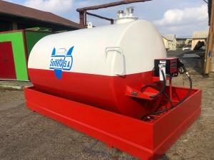 Rezervor suprateran 9000 litri cu pompa Cube 56 - alb-rosu0