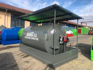 Rezervor suprateran 9000 litri cu copertină și pompă CUBE 560