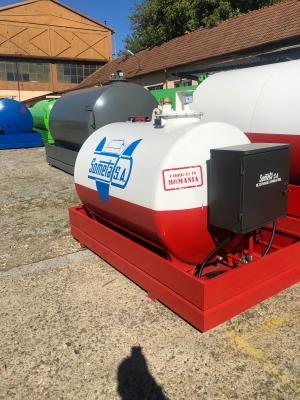 Rezervor suprateran 2000 litri pompa ST BOX - alb-rosu0