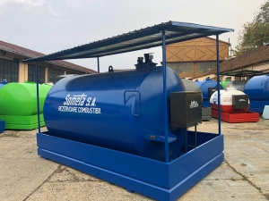 Rezervor suprateran  9000 litri cu copertină și pompă ST BOX3
