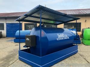 Rezervor suprateran  9000 litri cu copertină și pompă ST BOX1