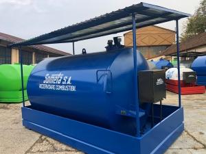 Rezervor suprateran  9000 litri cu copertină și pompă ST BOX2