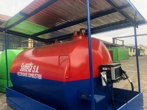 Rezervor suprateran 9000 litri cu copertină și pompă CUBE 70 electronica2