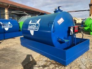 Rezervor suprateran 9000 litri cu pompa Cube 56 - albastru0