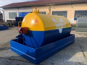 Rezervor suprateran 9000 litri cu pompa Cube56 - galben-albastru0