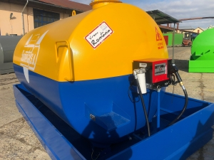 Rezervor suprateran 9000 litri cu pompa Cube56 - galben-albastru4