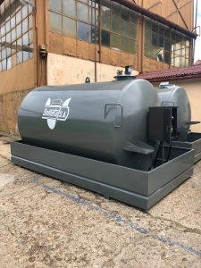 Rezervor suprateran 9000 litri cu pompa ST BOX - gri0