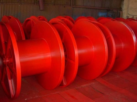 Tamburi metalici si bobine pentru infasurare conductori, cabluri si sarme2