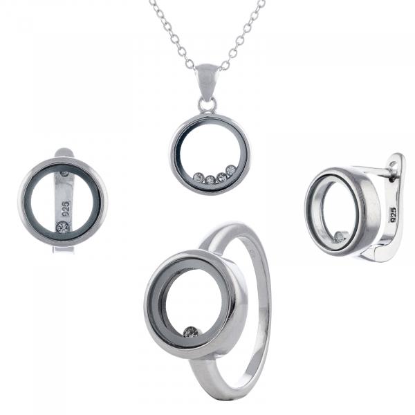 Set din argint 925 (cercei+lant+pandantiv+inel) [0]