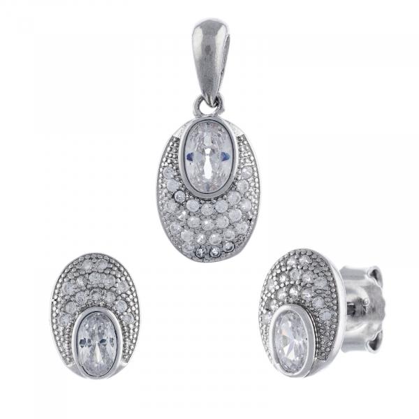 Set din argint 925 (cercei+pandantiv) [0]