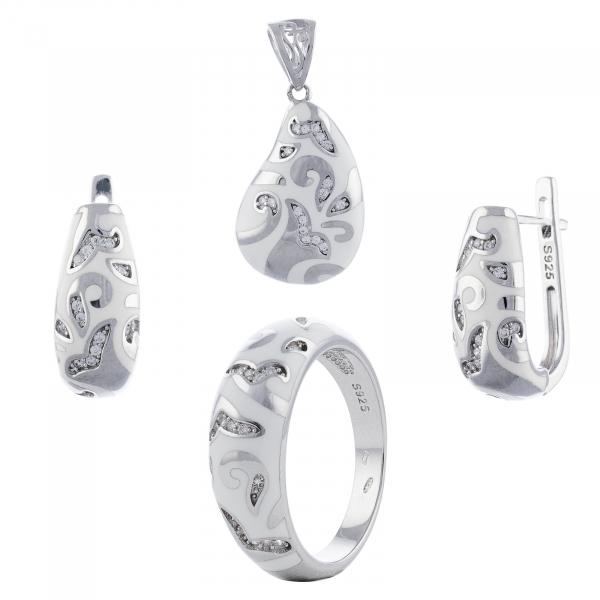 Set din argint 925 (cercei+pandantiv+inel) [0]