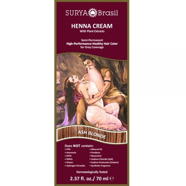 Vopsea Henna Crema Surya Brasil Blond Cenusiu 70ml 1