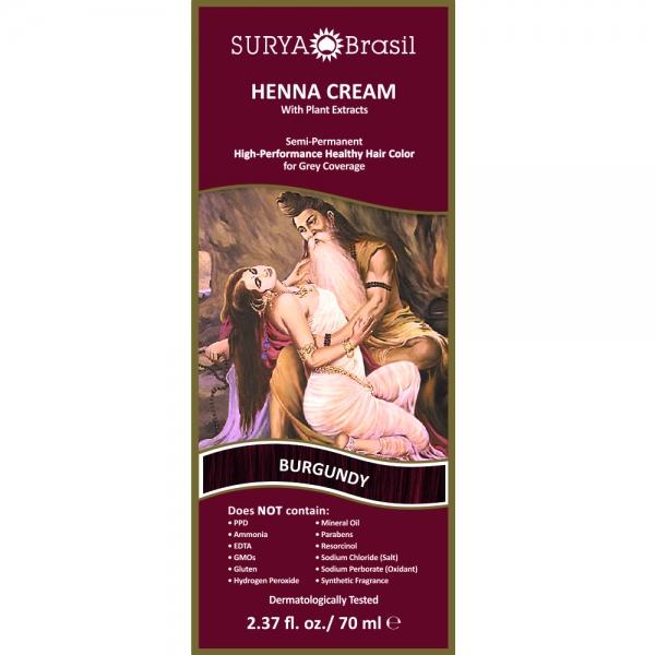 Vopsea Henna Crema Surya Brasil Rosu Burgundy 70ml 1