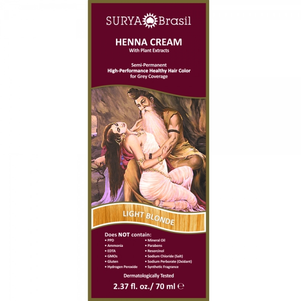 Vopsea Henna Crema Surya Brasil Blond Deschis 70ml 1