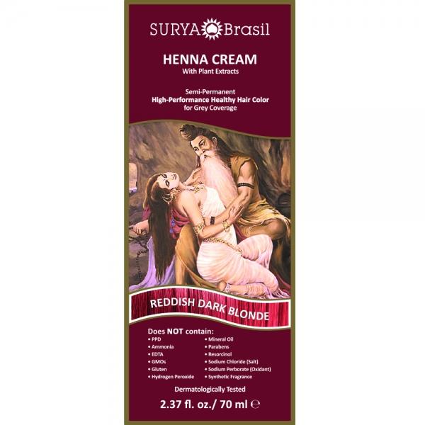 Vopsea Henna Crema Surya Brasil Blond Aramiu Mediu 70ml 1