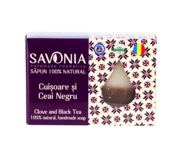 Sapun Natural Cuisoare si Ceai Negru Savonia 90g 0