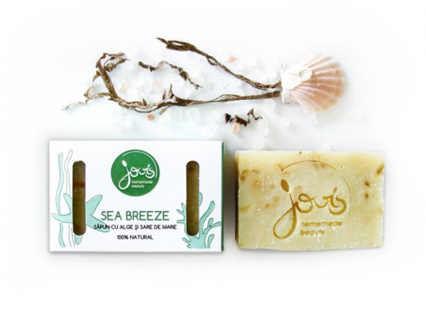 Sea Breeze - Alge & Sare de Mare - Sapun Natural Jovis 100g 0