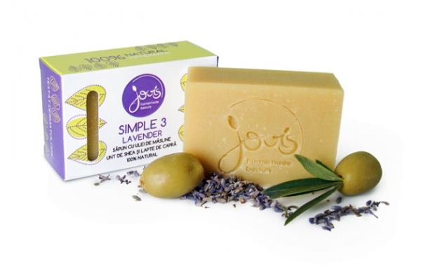 Simple 3 Lavender Sapun Natural Jovis 100g 0