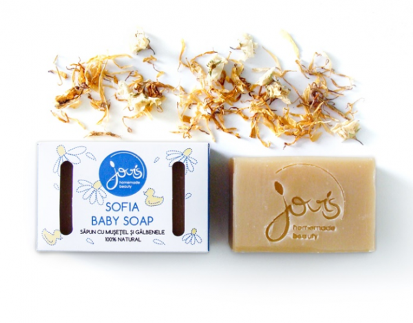 Sofia Baby Soap - Musetel si Galbenele - Sapun Natural Jovis 100g 0