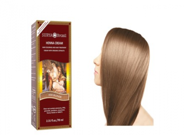 Vopsea Henna Crema Surya Brasil Blond Cenusiu 70ml 0