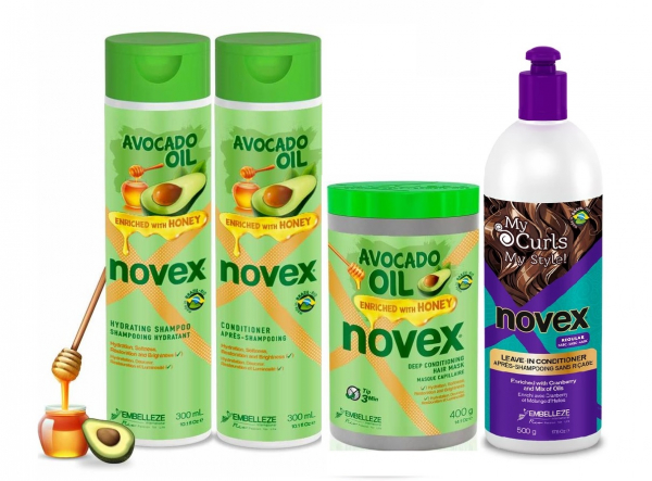 Set Par Cret si Ondulat Ulei de Avocado & Miere + Activator de Bucle My Curls 0