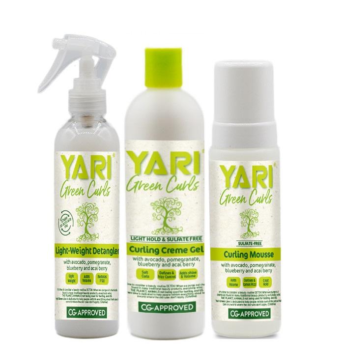 Set Yari Green Curls Balsam Descurcarea Parului Curling Creme Gel Spuma Modelatoare [0]