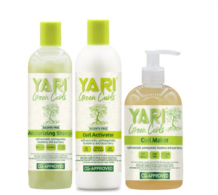 Set Yari Green Curls Sampon Activator de Bucle Gel [0]