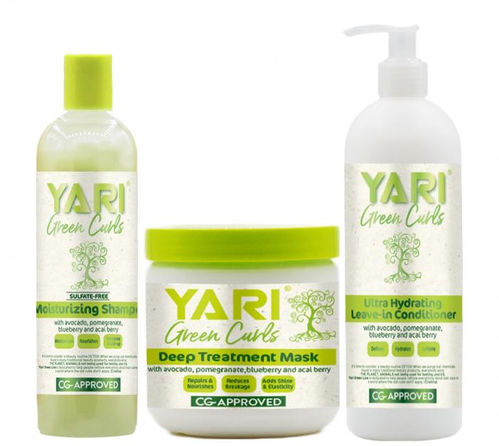 Set Yari Green Curls Sampon + Masca + Balsam Hidratant Fara Clatire [0]