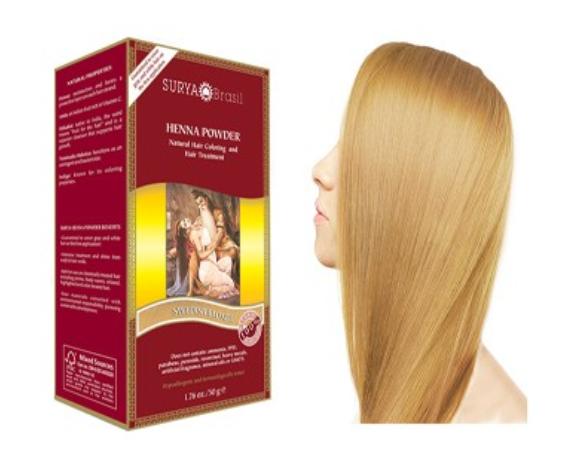 Vopsea Henna Pudra Surya Brasil Blond Suedez Deschis 50g 0