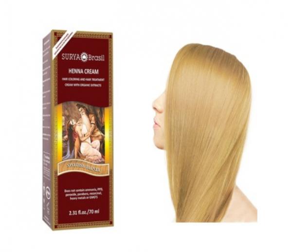 Vopsea Henna Crema Surya Brasil Blond Suedez Deschis 70ml 0
