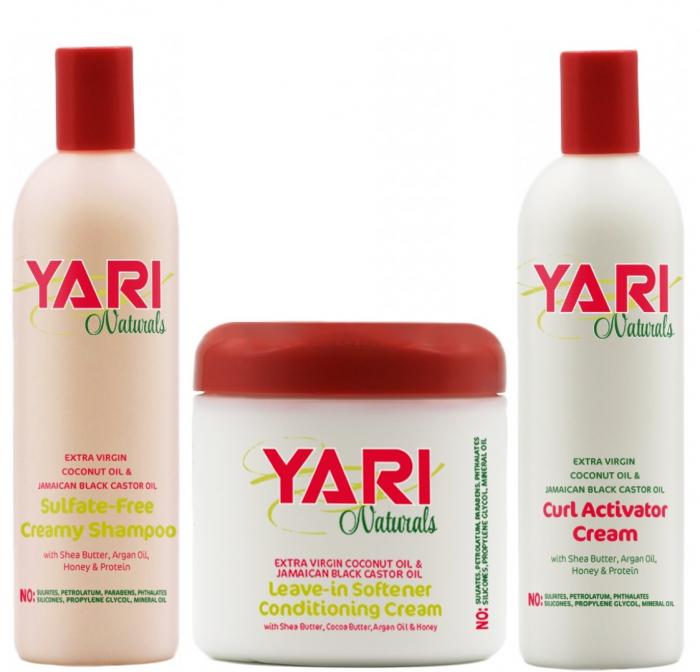 Yari Naturals Set Sampon Cremos + Balsam Hidratant + Activator de Bucle [0]
