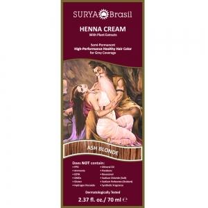 Vopsea Henna Crema Surya Brasil Blond Cenusiu 70ml1