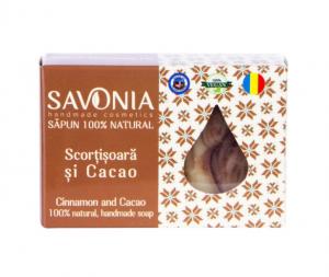Sapun Natural Scortisoara si Cacao Savonia 90g0