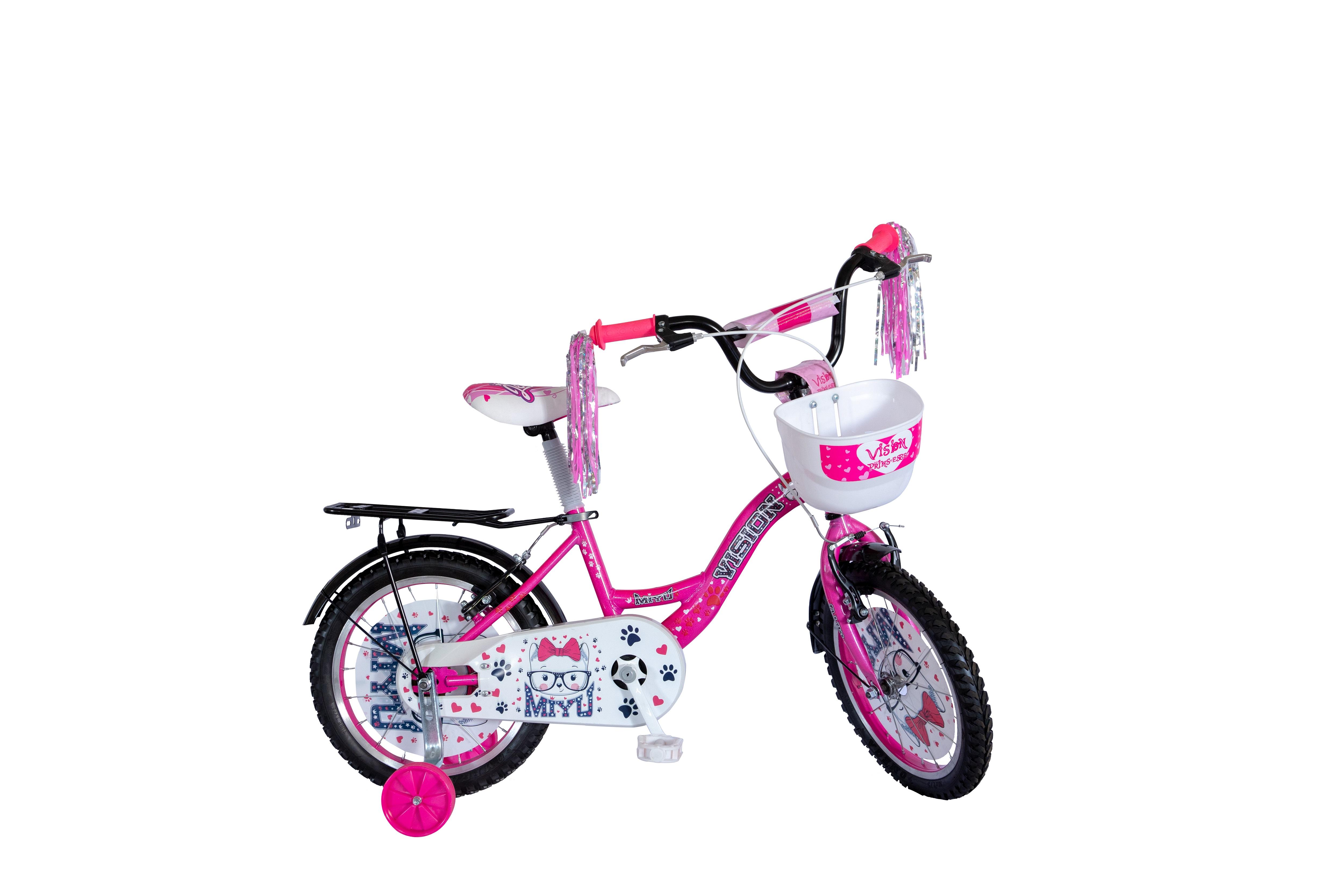 "Bicicleta Copii Vision Miyu Culoare Roz/Alb Roata 16"" Otel [0]"