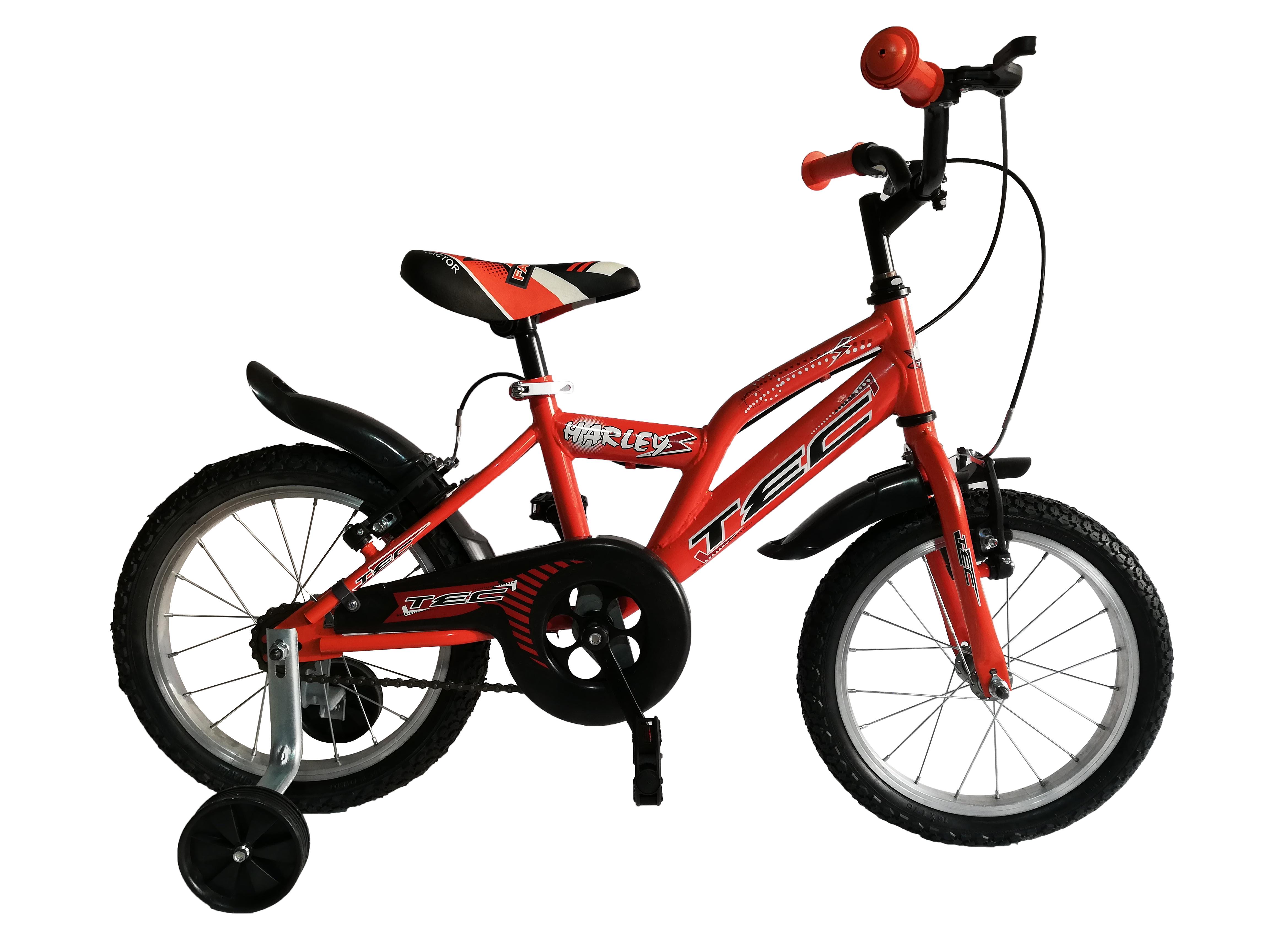 """Bicicleta Copii TEC Harley Culoare Portocaliu Roata 16"""" Otel [0]"""