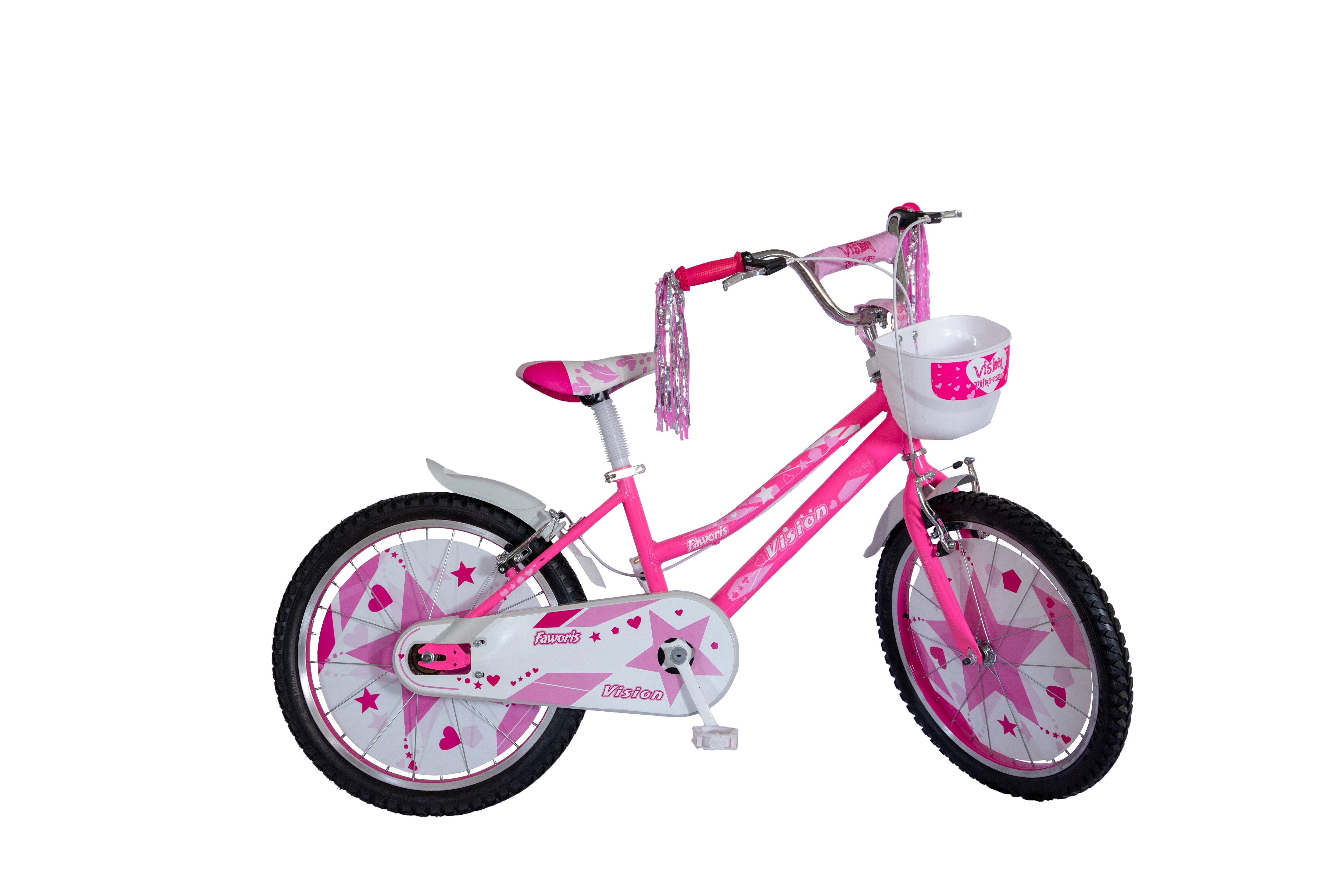 "Bicicleta Copii Vision Faworis Culoare Roz/Alb Roata 20"" Otel [0]"