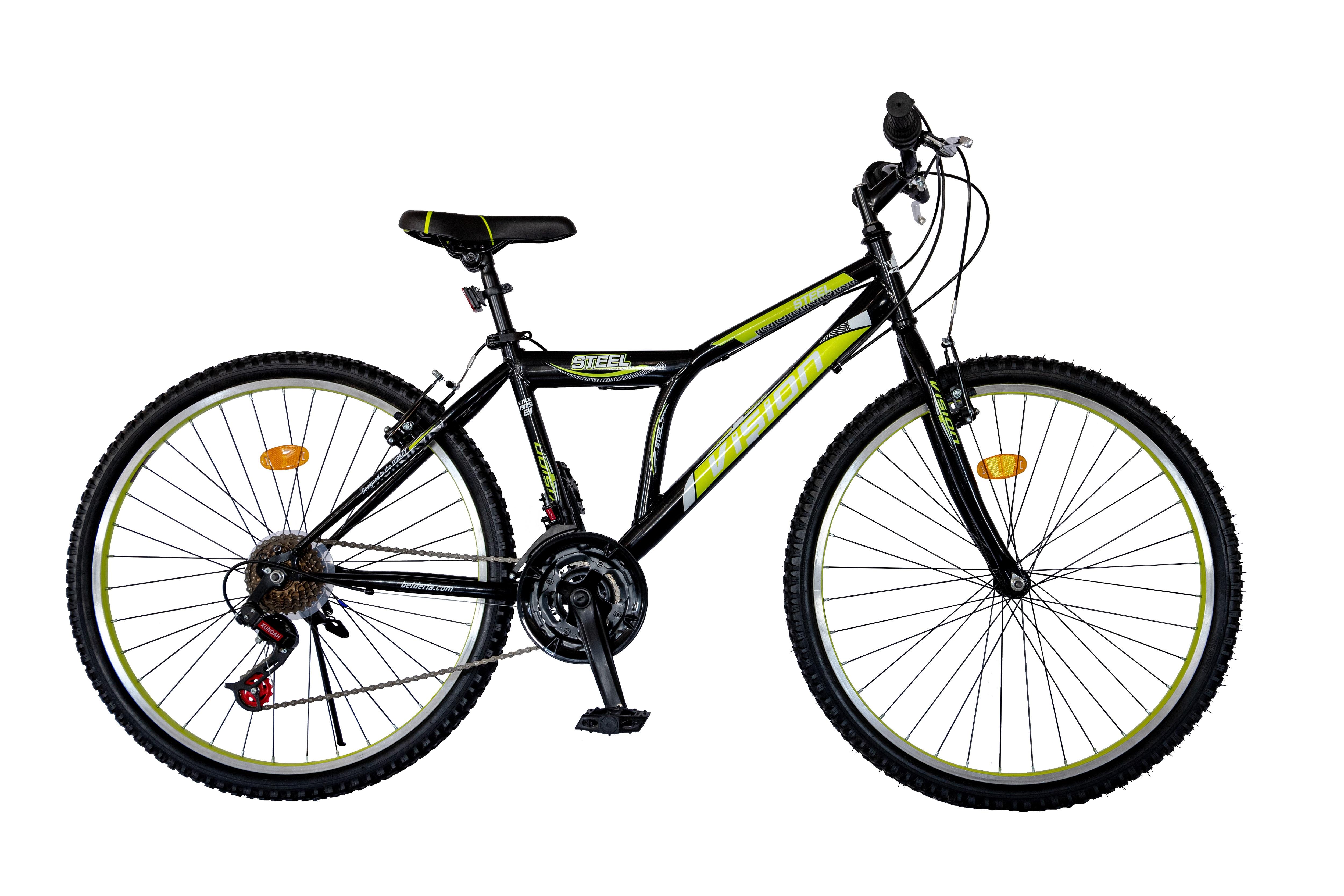 "Bicicleta MTB Vision Steel Man Culoare Alb/Verde Roata 24"" Otel [0]"