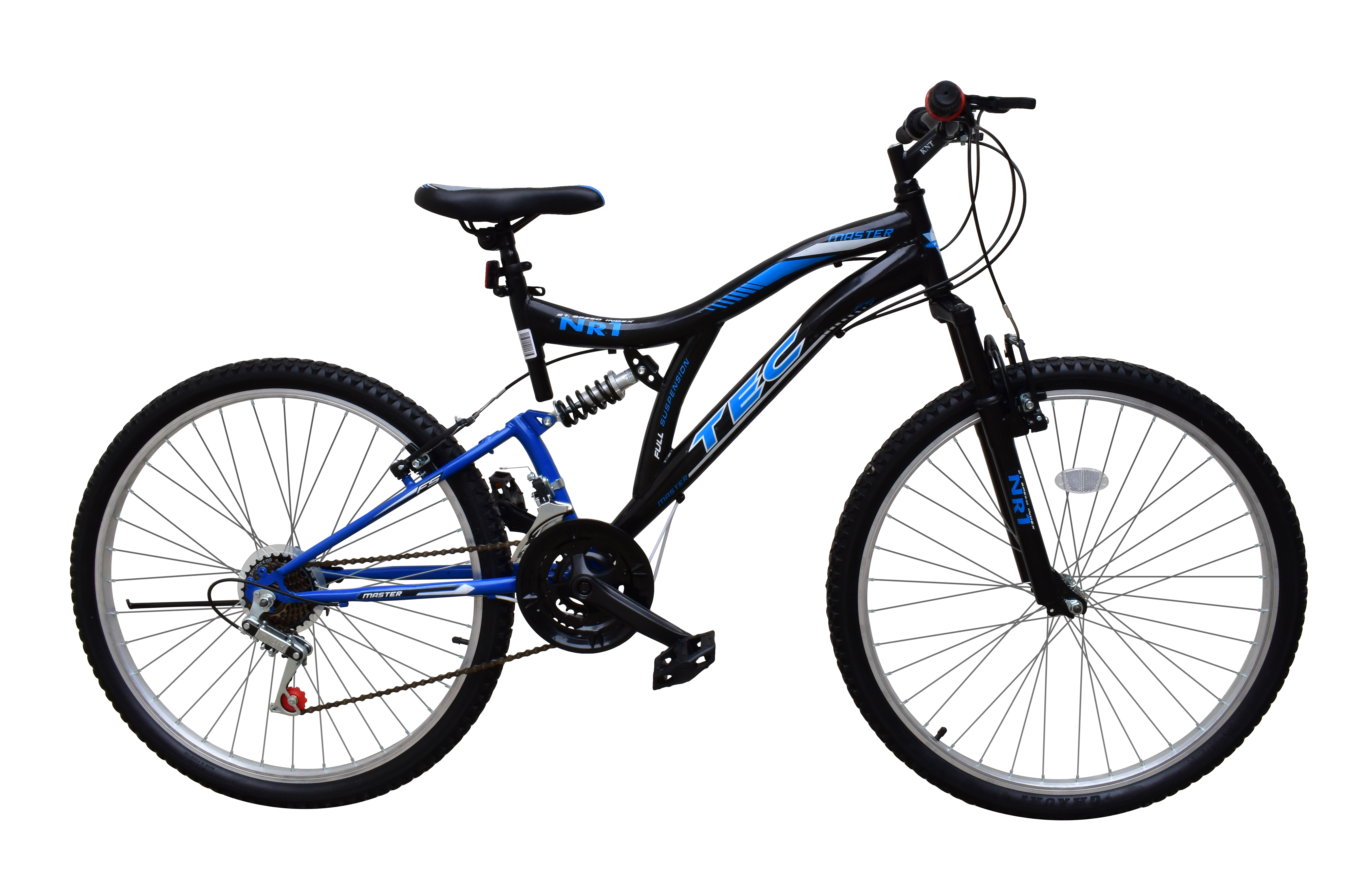 """Bicicleta MTB Tec Master full suspensie, roata 26"""", culoare Alb/Albastru [0]"""