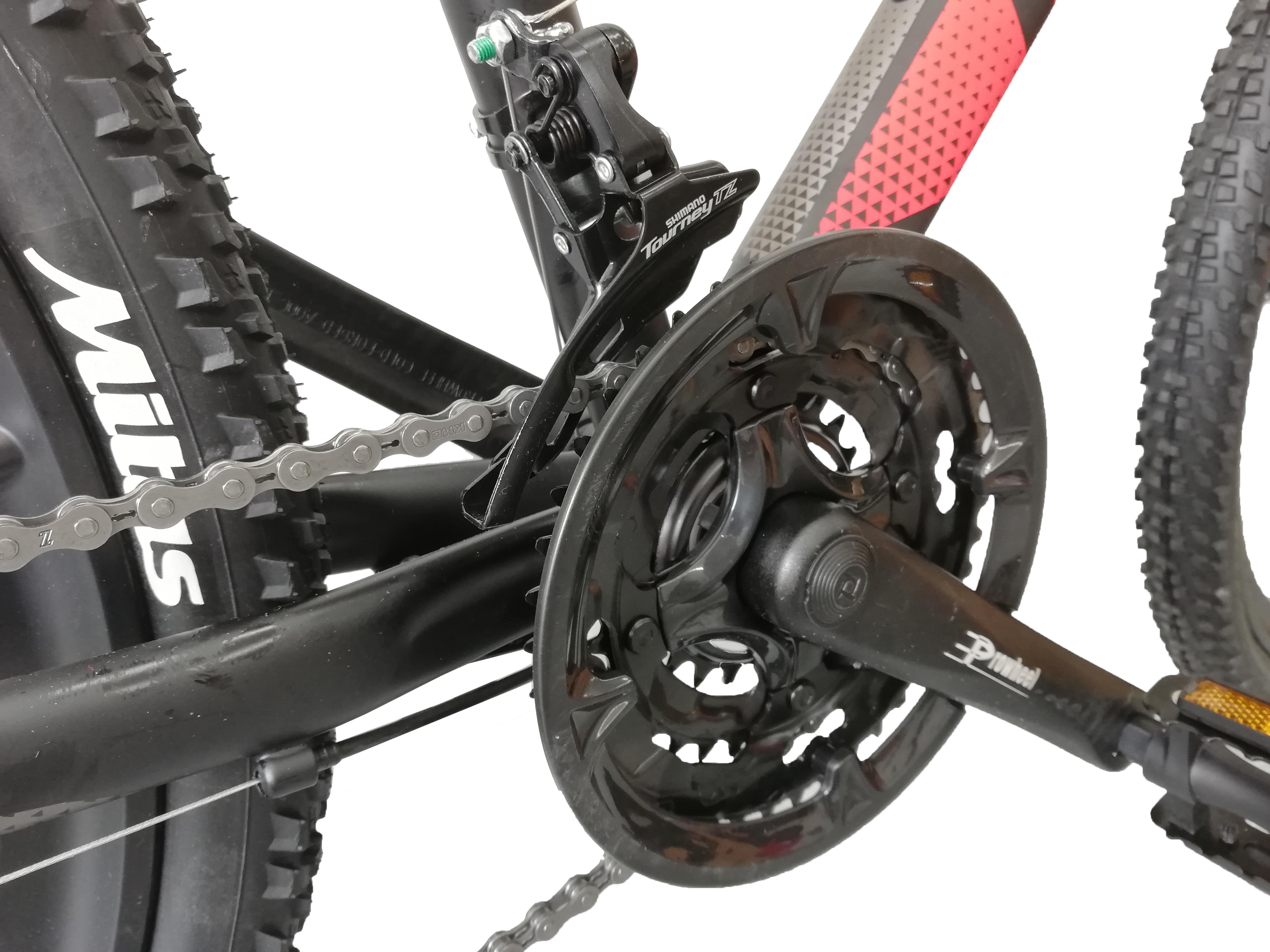 """Bicicleta MTB Umit Accrue 2D , Cadru 18"""" , 21 Viteze , Culoare Negru/Rosu Roata 26"""" [3]"""